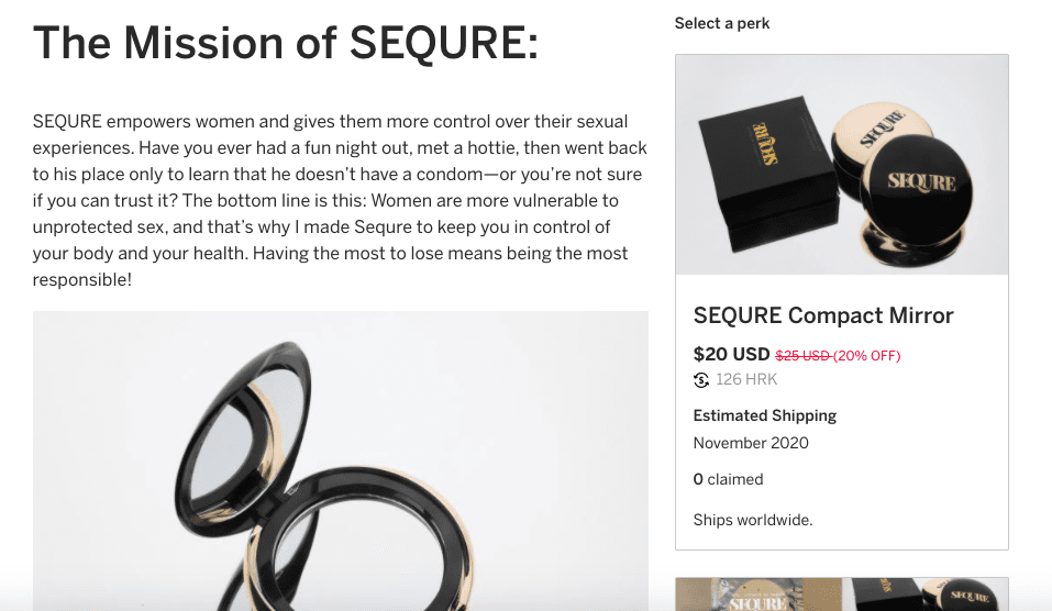 Sequre IndieGoGo Fundraiser Screenshot Two