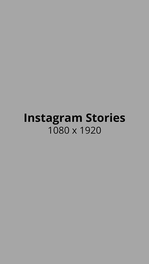 Instagram Stories Photo Size