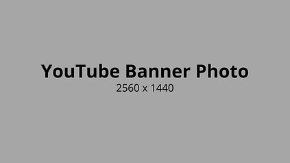 Youtube Banner Photo Size
