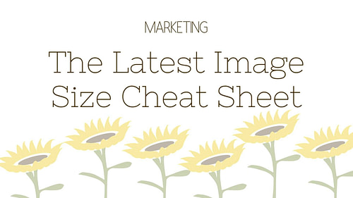 The Latest Image Size Cheat Sheet