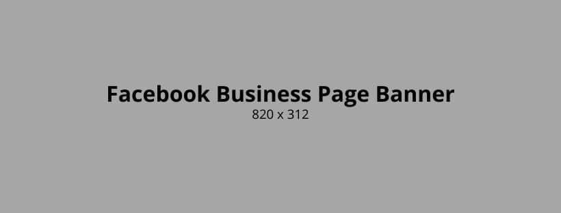 Facebook Business Page Banner Photo Size
