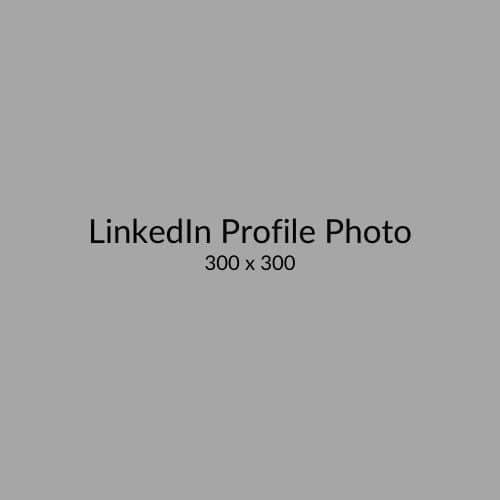 LinkedIn Profile Photo Size