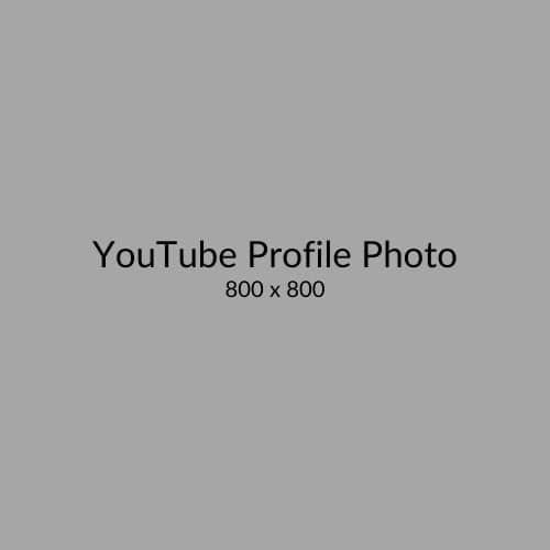 YouTube Profile Photo Size