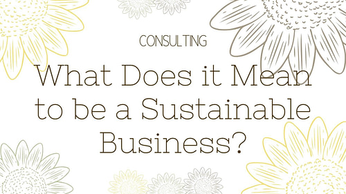 What Does it Mean to be a Sustainable Business?