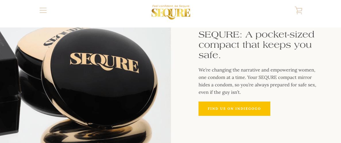 Sequre Website Screenshot Two