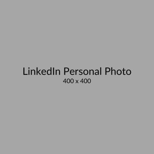 LinkedIn Personal Profile Photo Size
