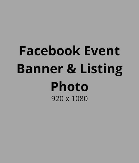 Facebook Event Banner & Listing Photo Size