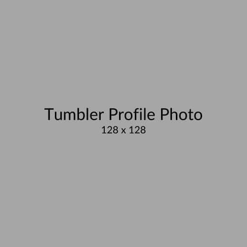 Tumbler Profile Photo Size