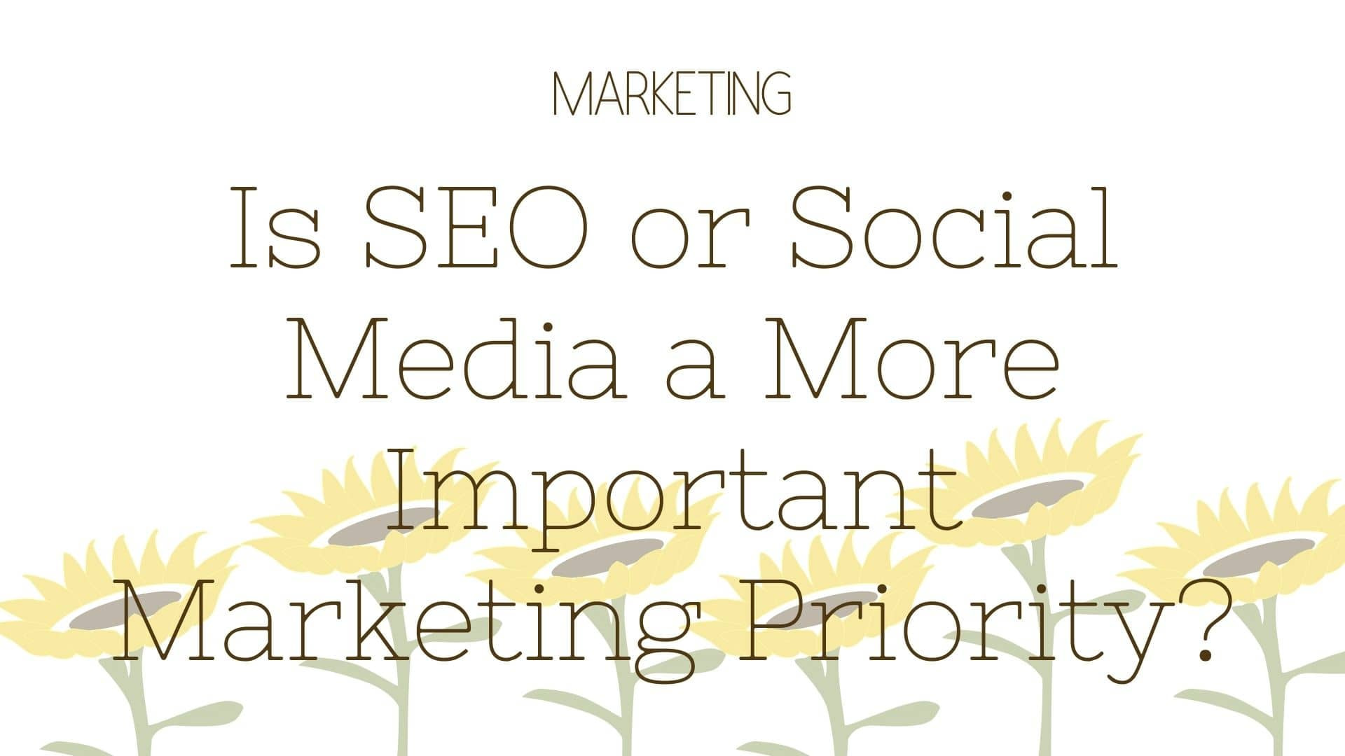 Is SEO or Social Media a More Important Marketing Priority