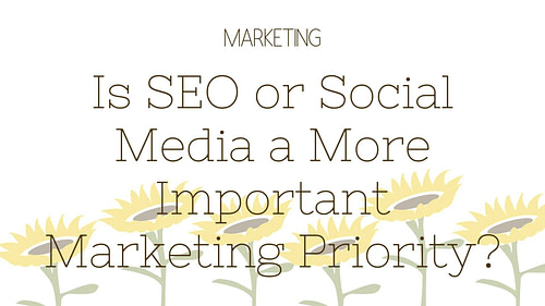 Is SEO or Social Media a More Important Marketing Priority?