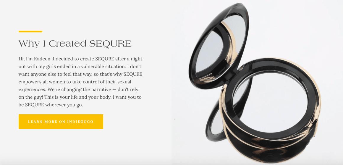 Sequre Website Screenshot Four