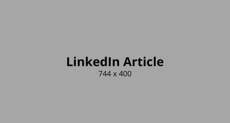 LinkedIn Article photo Size